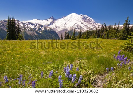 The beautiful view from sunrise point - stock photo