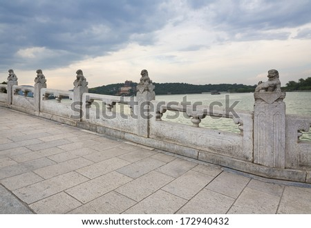 The beautiful view of the Summer Palace in Beijing, China  - stock photo