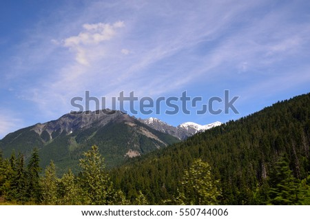 The beautiful views of Jasper National Park in the Canadian Rockies.