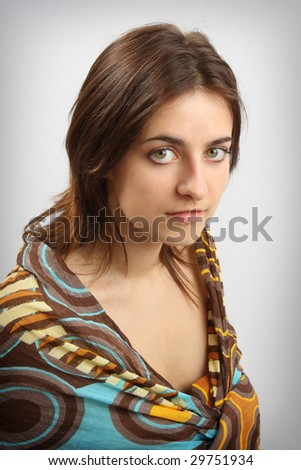 The beautiful young woman - stock photo