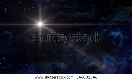 the beauty night sky with star background. - Elements of this Image Furnished by NASA - stock photo