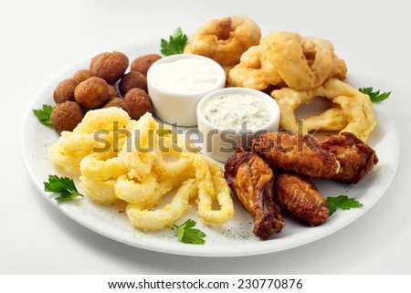 Grilled Breaded Onion Rings