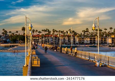 The Belmont Pier in Long Beach, California. - stock photo