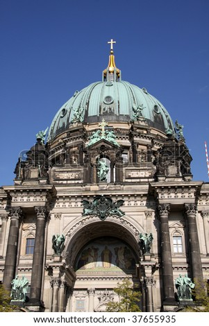 The Berliner Dom is a popular tourist destination in the heart of Berlin. - stock photo