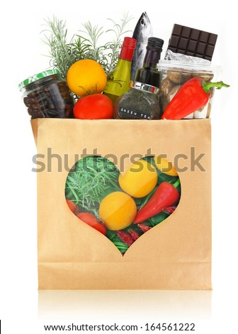 The best foods for healthy heart - stock photo