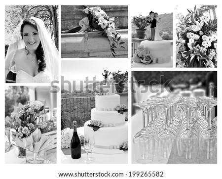 The best moments of the wedding  - stock photo