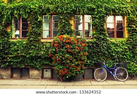 The bicycle in Copenhagen. - stock photo