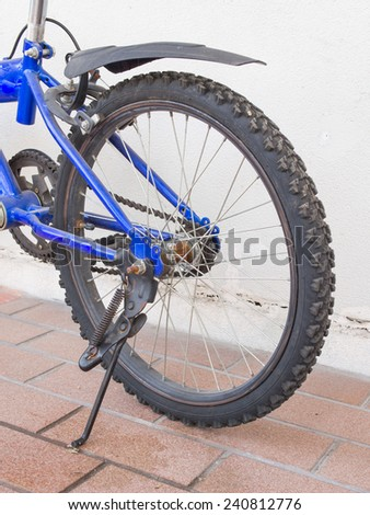 The bicycle rear wheel - stock photo