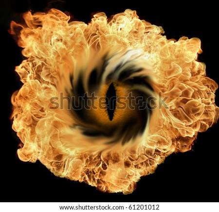 The big bang with eye - stock photo