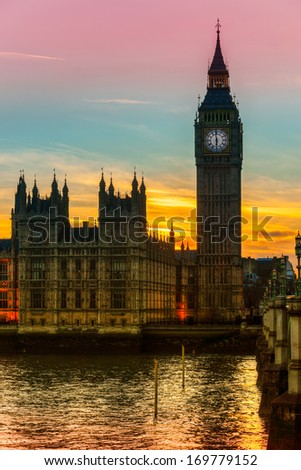 The Big Ben, London. UK- - stock photo