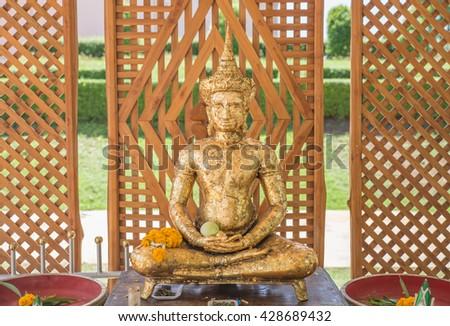 The Big Buddha for gild (phraphuthth- mha-thrrm-racha) at phetchabun province,Thailand. - stock photo