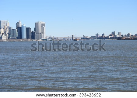 The big city seen from the ocean!