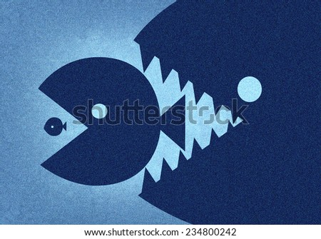 The big fish eat the small - stock photo