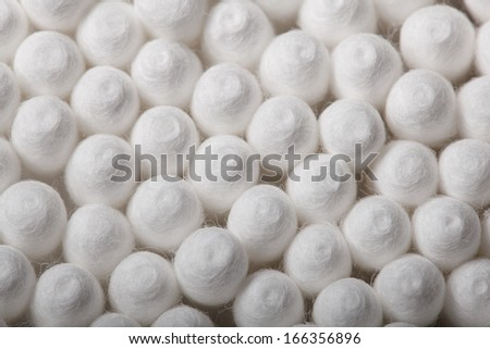 The big group fluffy cotton buds. - stock photo