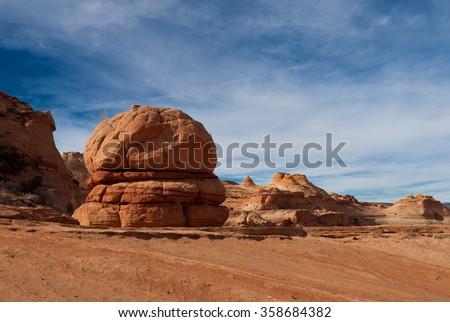 The big Mach - Coyote Buttes North, Arizona - stock photo