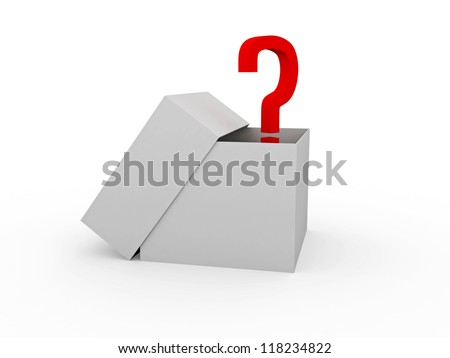The big open box with unknown contents - stock photo