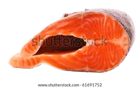 The big piece of red trout for stake
