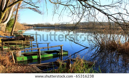The Big Pond (Velky rybnik) Mantov - fishing and hunting ground nearby Pilsen City, Czech Republic, Europe
