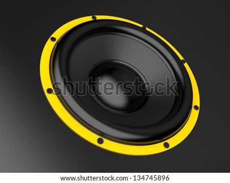 The big speaker on a black background