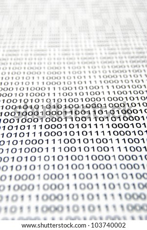 The binary system page - stock photo