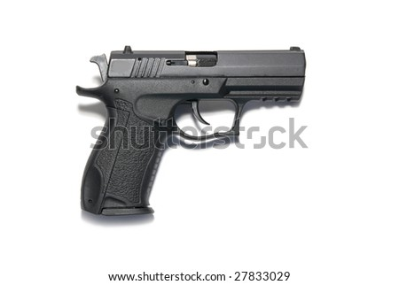 The black gun isolated on white background