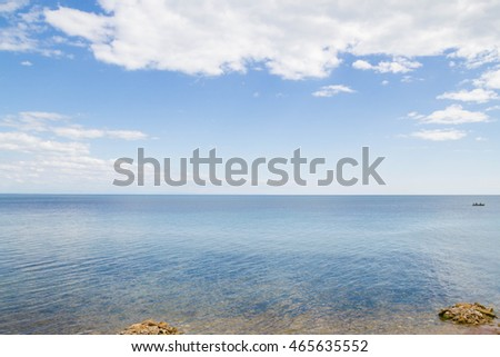 The black sea beach in summer Crimea
