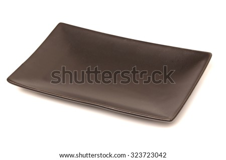 The black side dishes   - stock photo
