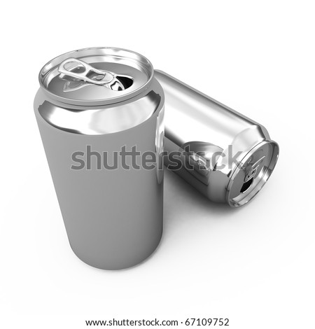 the blank beer can on white - stock photo