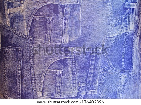 The blue jeans, Can use background - stock photo