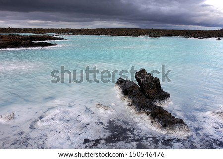 The Blue Lagoon near Grindavik, Iceland. - stock photo