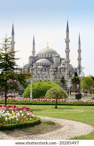 The Blue Mosque in Istanbul, Turkey - stock photo