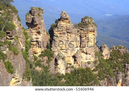 The blue Mountains Australia, the three sisters - stock photo