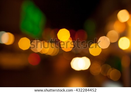 The Blur of bokeh  and colored lanterns are released for celebrating