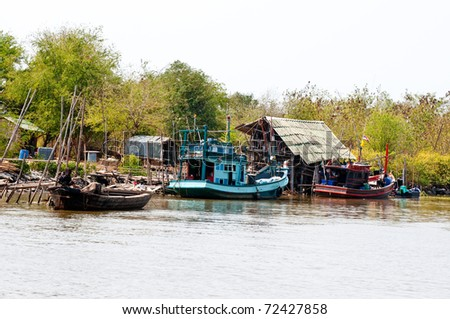 The Boat of fisherman - stock photo