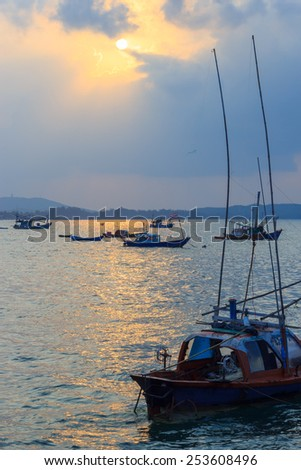 The boat on the sea  - stock photo