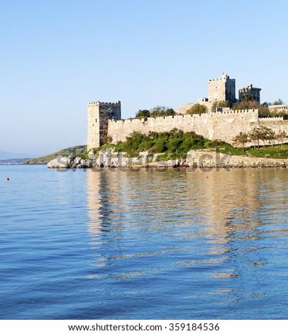 The Bodrum Castle, Turkey - stock photo