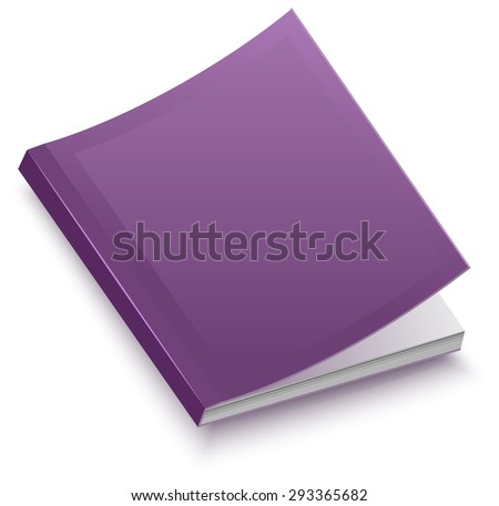 The book in paperback. Isolated illustration - stock photo