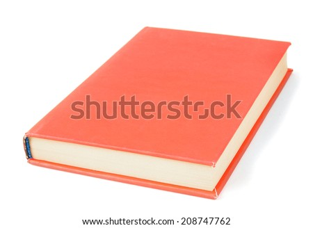 The book. On a white background. - stock photo