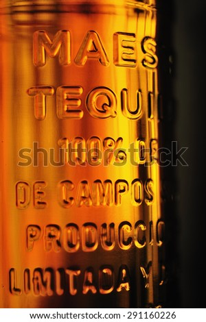 The bottle of Tequila - stock photo