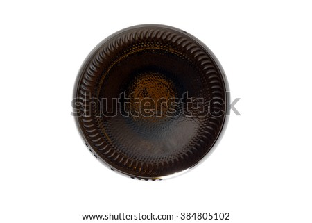 the bottom of the bottle - stock photo