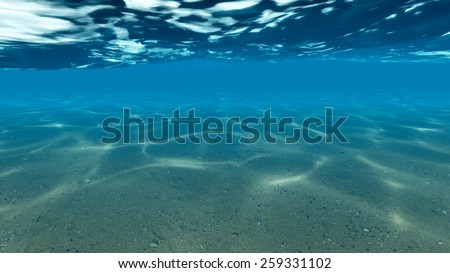 The bottom of the ocean. Raster - stock photo