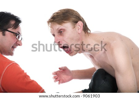 The boxer in a supereasy category - stock photo