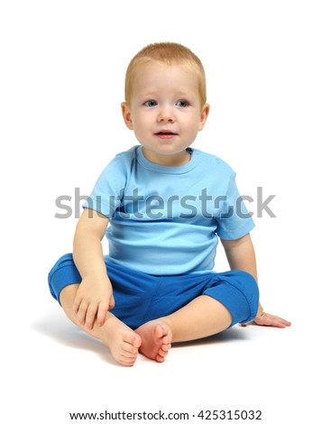 the boy isolated on white