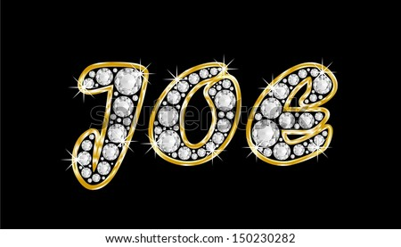 7 letter words ending in joe the boy name joe made of a shiny diamonds style font 25224 | stock photo the boy male name joe made of a shiny diamonds style font brilliant gem stone letters building 150230282