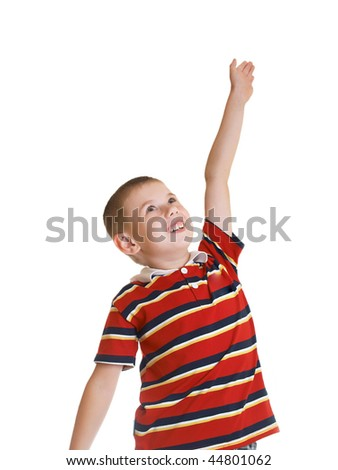 The boy represents readiness for active actions - stock photo