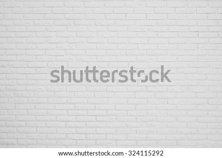 the brick white blank wall - stock photo