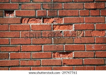 The bricks' wall as a background