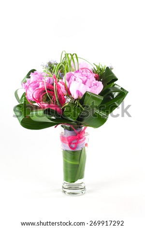 the bride's bouquet - stock photo