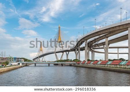 The Bridge across the river - stock photo