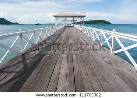 The Bridge at Sichang Island, Thailand - stock photo